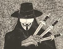 V for Vendetta - Pencil sketch