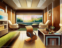 Backgrounds for visual novel