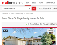 Realtor.com Search Results Redesign & Filtering