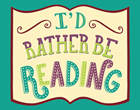 Rather Be Reading | Lettering