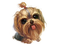 【Customization NO.66】——Yorkshire Terrier Stone