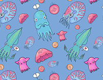 Cephalopods and Jellies Pattern