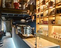 TAKAVA coffee buffet. - The coffee bar interior