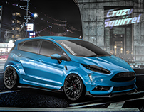 "Ford Fiesta ST 2016 tuning project ""crazy squirrel"""