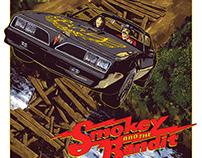 SMOKEY AND THE BANDIT Screenprint
