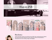 JNR Hair Web Mockup for Hair Stylist