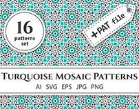 Turquoise Mosaic Patterns