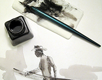 Dip pen illustrations