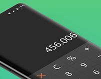 Calculator Dark UI
