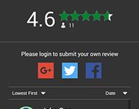 Widget Rating System