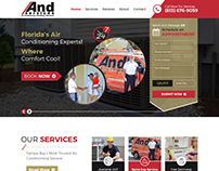 AC Services Creative Website Template Made By Nexstair