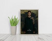 Elegant Interior Framed Poster Mockup Free