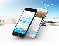 Clean Energy Mobile Website – Free design download