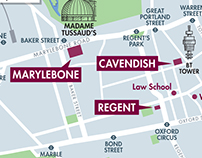 Campus map for the University of Westminster