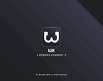 MOBILE APP UI - WE