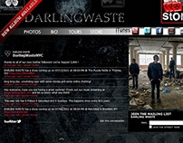 Web Design - Band Site - Darling Waste