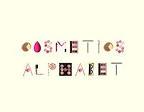 Cosmetics make up alphabet