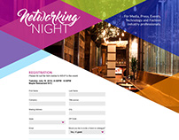 Networking Night Registration Site + Email