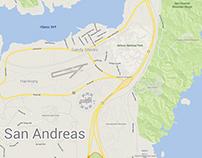 San Andreas Google Map