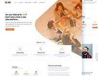 Job Portal Landing page design
