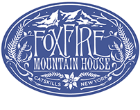 Foxfire Mountain House Luggage Patch Logo