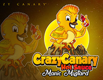 mascot logo crazy canary