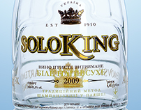 SoloKing wine bottle by DanCo Decor
