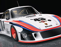 "Porsche 935/78 ""Moby dick"" Studio Shoots SET"