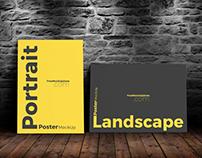 Free Landscape & Portrait Poster Mock-Up