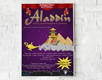 Heckington Players 2019 Panto poster for Aladdin