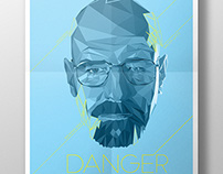 Walter White - Low Poly Poster
