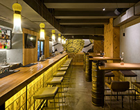 Interior of the REBERBAR pub from YUDIN Design studio