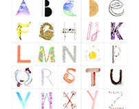 A-Z Type poster