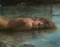Syrinx, 2015 Óleo y alquídico sobre lienzo, 162 x 61 cm