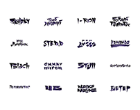 24 Calligraphy logotypes for Hip-Hop Battle Russia