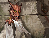 Characters for tabletop game books, D&D 5e