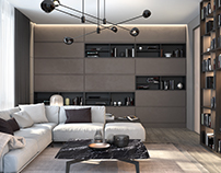Minimalist living room Poliform. (2017)
