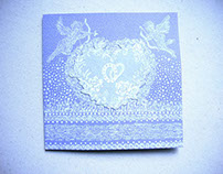 "Postcard handmade to order, ""Cupid"""