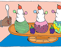 Just Desserts Art for Wanderlust Restaurant