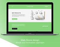 Web Store design for organic cosmetics shop