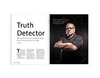 Truth Detector Feature Magazine Design