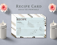 Free Feather Pattern Recipe Card Template