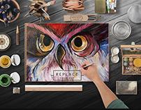 Art Paper Scene Mockups Design