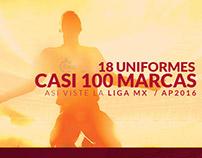 Marcas - Uniformes Liga MX 2016