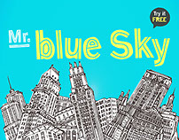 Mr. Blue Sky free font