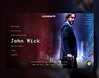 Lionsgate Homepage Slider Concept UX / Web Design