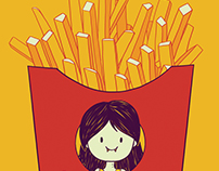 Marcie's Fries t-shirt design