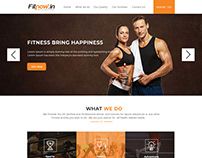One Page Fitness & Gym PSD Template