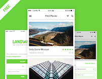 Landways app design concept | Freebie