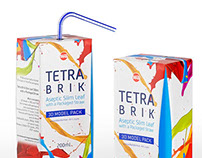 Tetra Pak Brik Slim Leaf 200ml 3D model